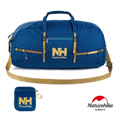 Naturehike戶外旅行大容量折疊防水抗刮手提肩背包 38L 藍色-急