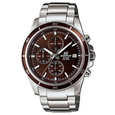 EDIFICE 精準時刻賽車計時腕錶(EFR-526D-5A)-咖啡色/43.8mm