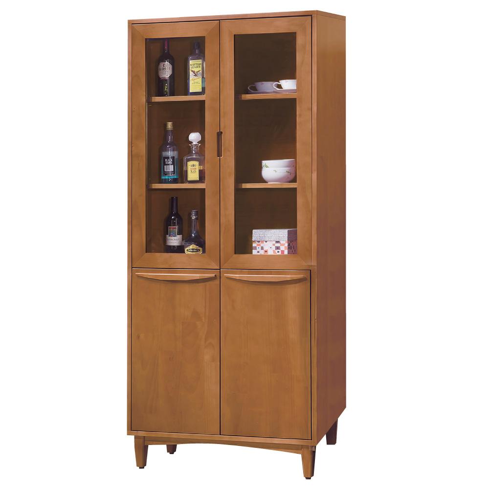 品家居 約瑟夫2.7尺實木收納餐櫃-80x36x183cm-免組