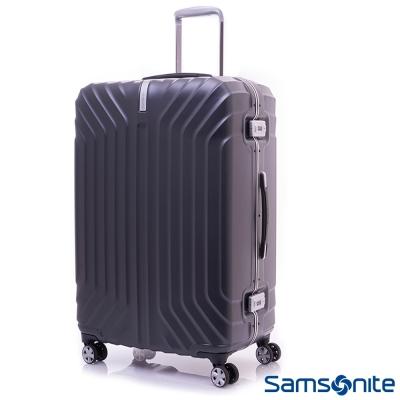 Samsonite新秀麗 28吋Tru-Frame PC時尚硬殼鋁框行李箱(碳黑)