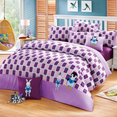 繪見幾米 忘記親一下親親企鵝 雙人加大兩用被床包組