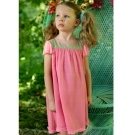I Love Gorgeous 娃娃荷葉紡紗袖晚禮服-粉色