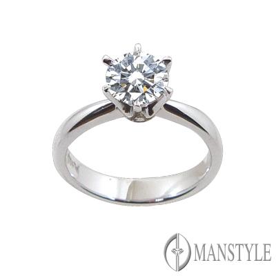 MANSTYLE 經典1.00ct 鑽石戒指