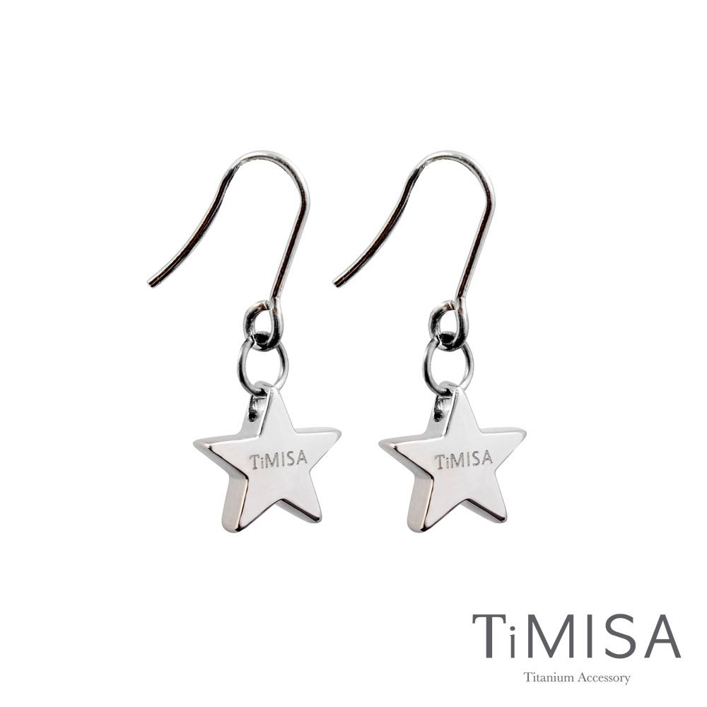 TiMISA《迷你幸運星(M)》純鈦耳環