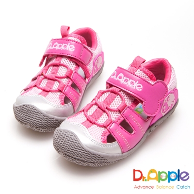 Dr. Apple 機能童鞋 狗骨頭玩樂青春涼童鞋-粉