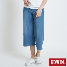 EDWIN 迦績褲JERSEYS涼感八分寬直筒褲-女-拔淺藍