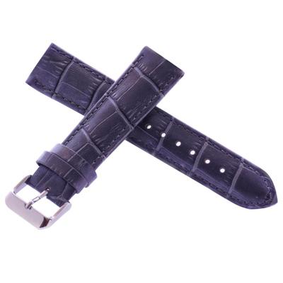 高級進口錶帶代用名廠同級銀河高質感珍珠銀灰色牛皮壓紋錶帶-20*18mm