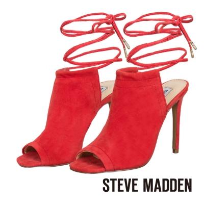 STEVE-MADDEN-細緻綁帶露趾高跟涼鞋-紅