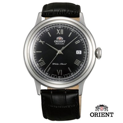 ORIENT 東方錶 DATE Ⅱ 機械錶-黑面銀框/40.5mm