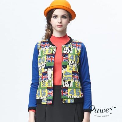 OUWEY歐薇-美式圖紋帥氣風棒球外套