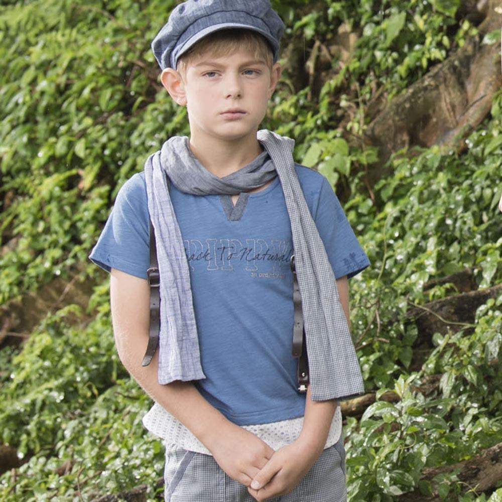 PIPPY 假兩件式短袖上衣 藍