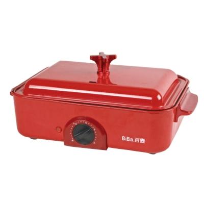 BiBa百變日式燒烤料理爐-紅色(GP-302)