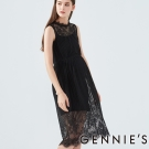 Gennies奇妮-蕾絲典雅長洋-(T1D14-黑)