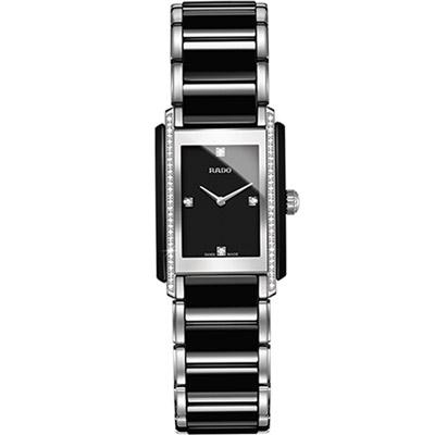 RADO Integral 精密陶瓷系列鑽錶-黑/23x33mm