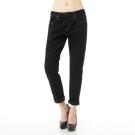 Lee 101+牛仔褲 408 超低腰緊身窄管牛仔褲-女-黑色