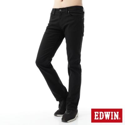 EDWIN 大尺碼 EDGE直筒保溫褲-男-黑色