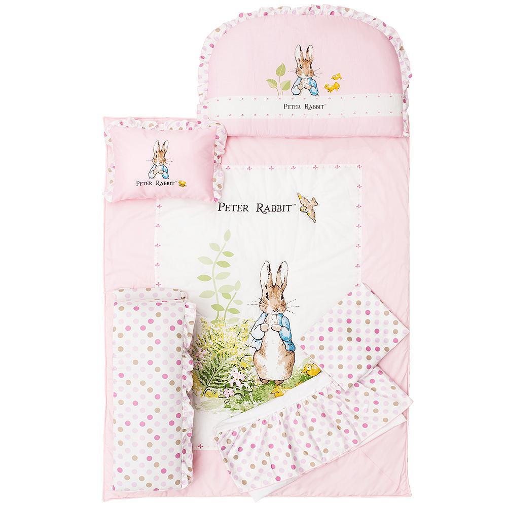 奇哥 花園比得兔六件床組L-粉紅