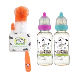 【貝喜力克】防脤氣PES葫蘆型奶瓶300ml*2