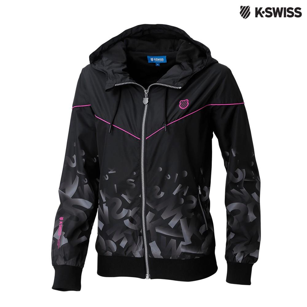 K-SWISS Gradient Windbreaker風衣外套-女-黑