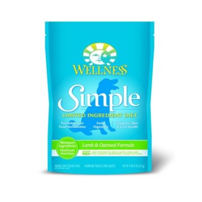 WELLNESS《Simple單一蛋白系列-成犬 羊肉燕麥》4磅
