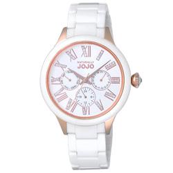 NATURALLY JOJO 帕里斯之約陶瓷時尚腕錶-JO96921-80R-39mm