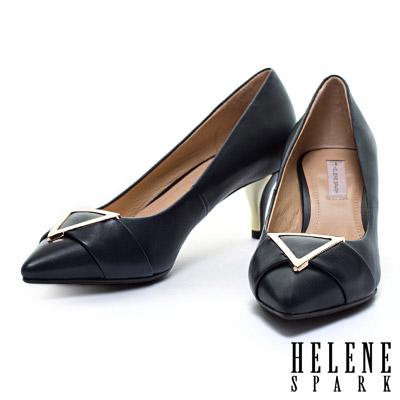 高跟鞋-HELENE-SPARK-三角金屬釦環羊皮