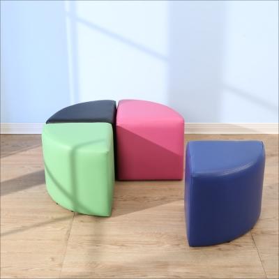 BuyJM 亮彩扇形沙發凳(40x40公分)-免組裝