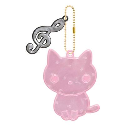 小襪貓夜光反光珠鍊吊飾。小襪貓
