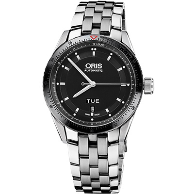 Oris Artix GT Day-Date 單向轉圈機械腕錶-黑/42mm