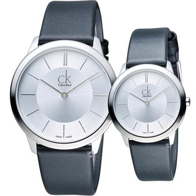 Calvin Klein Minimal穿越愛戀對錶(K3M211C6+K3M221C6)