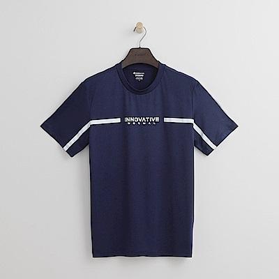 Hang Ten - 男裝 - Thermo Contro肩印條T恤-藍色