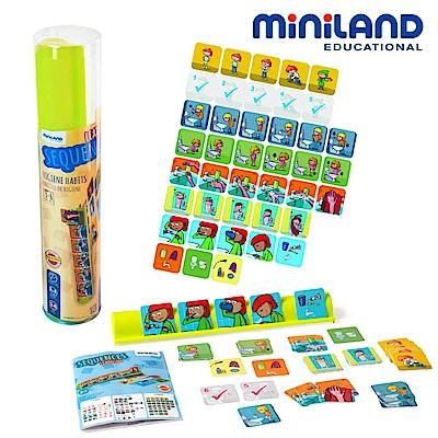 【西班牙Miniland】時間排序養成-衛生教育組