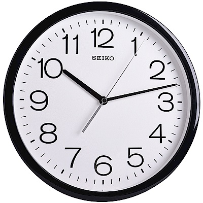 SEIKO 精工 簡約現代感設計 時鐘 掛鐘(QXA693K)-31.1cm