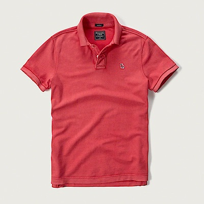 AF a&f Abercrombie & Fitch POLO 紅色 0770