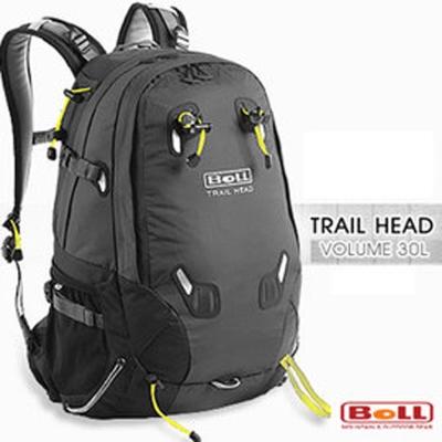 【捷克 BOLL】新 Trail Head 30L 輕量健行登山背包_黑/煤黑