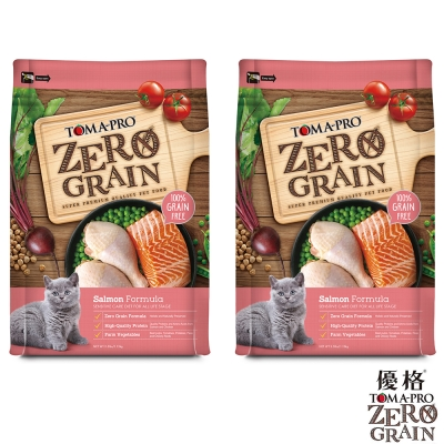 TOMA-PRO 優格 天然零穀食譜 全齡貓 敏感配方(鮭魚) 5 . 5 磅X 2 包