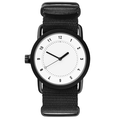 TID Watches No.1 White 白x經典尼龍帶腕錶/36mm