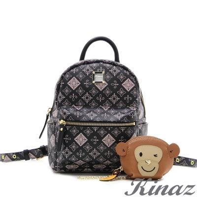 KINAZ 猴子~青春笑顏多way後背包-粉紅宣言