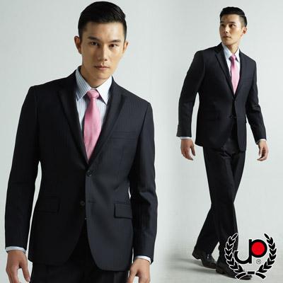 極品西服-修身版舒適混紡西裝外套-深藍條紋-AW316-3G-1