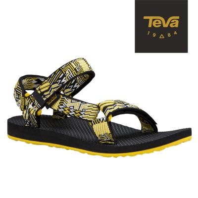 TEVA 美國-女 Original Universal 緹花織帶涼鞋 (城市黑)