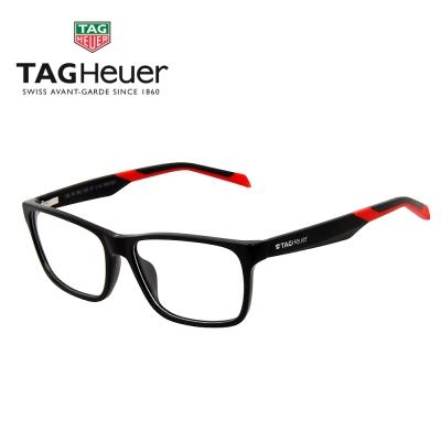 TAG Heuer 豪雅 時尚眼鏡 霧黑膠框+彈簧鏡腳-黑紅TH552-005