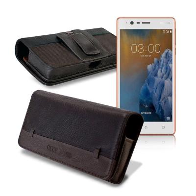 CB Nokia 3 5吋 品味柔紋橫式腰掛皮套