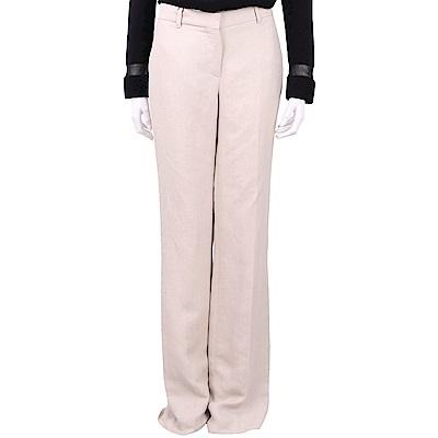 Max Mara 粉裸色素面寬版落地西裝褲