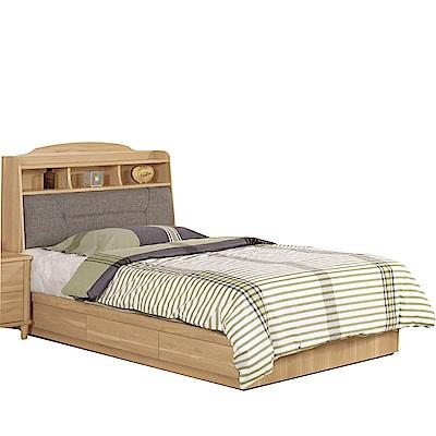 品家居  瑪安3.5尺單人收納床台組合(不含床墊)-106x211.5x105.5cm免組