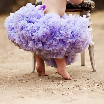 Chic Baby Rose 薰衣草紫手工雙層雪紡澎裙