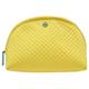 TORY BURCH 浮雕菱格紋織布拉鍊萬用/化妝包-黃色 product thumbnail 1
