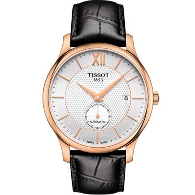 TISSOT TRADITION 小秒針機械錶(T0634283603800)