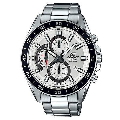 EDIFICE 都會城市沉穩風格計時概念指針腕錶(EFV-550D-7A)白面/47mm