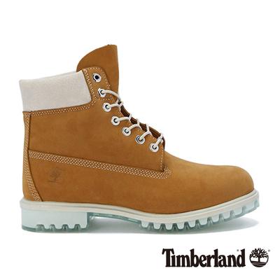Timberland-男款小麥黃厚領綁帶防水6吋靴
