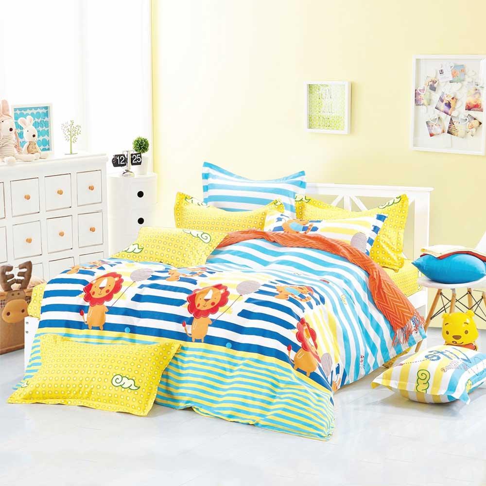 Ania Casa 台灣製 100%純棉 - 單人床包被套三件組 (快樂假期)